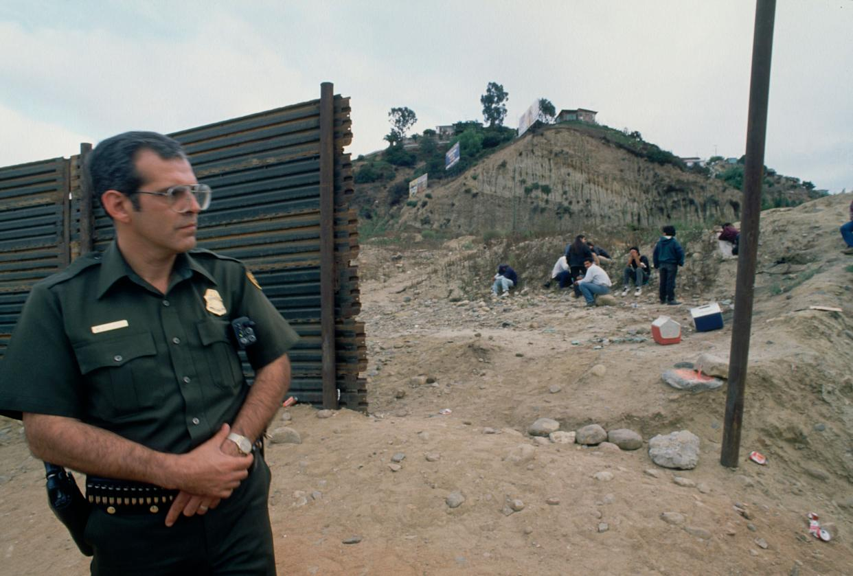 Undocumented immigrants wait on the other side of Mexico.