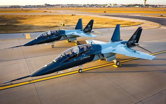 Two Boeing T-X jets on the tarmac