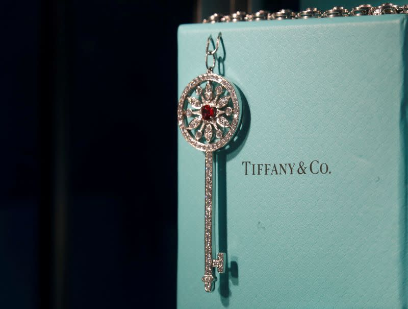FILE PHOTO: Tiffany & Co. jewelry is displayed in a store in Paris