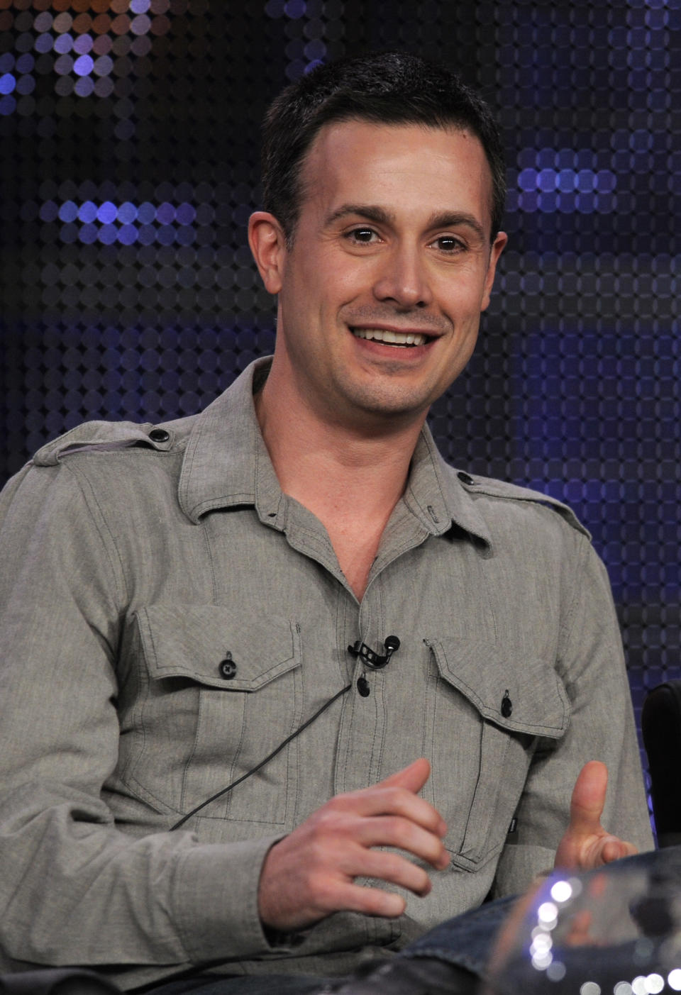 Freddie Prinze Jr., of the show 24, participates in a panel discussion at the FOX Television Critics Association winter press tour in Pasadena, Calif., Monday, Jan. 11, 2010. (AP Photo/Chris Pizzello)