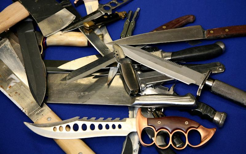 Knives recovered from teenagers by The Metropolitan Police  - Julian Simmonds