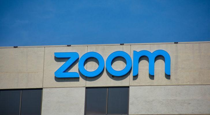 Zoom (ZM) logo on a building