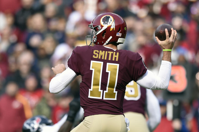 Alex Smith in action in 2018. (Photo by Patrick McDermott/Getty Images)