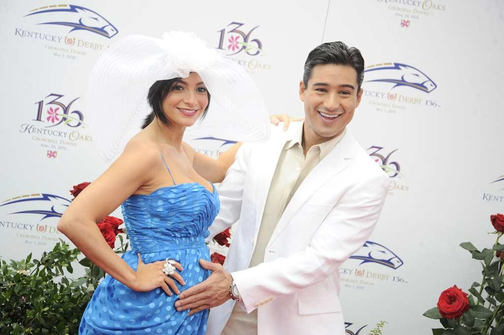 "Mario Lopez showed off girlfriend Courtney Laine Mazza's burgeoning baby bump. No mint juleps for you, miss! Jeff Gentner/<a href=""http://www.gettyimages.com/"" target=""new"">GettyImages.com</a> - May 1, 2010"