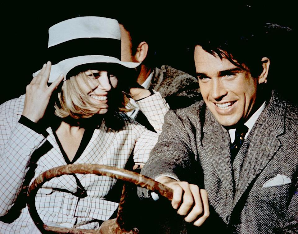 """<a href=""""http://movies.yahoo.com/movie/bonnie-and-clyde/"""" data-ylk=""""slk:BONNIE AND CLYDE"""" class=""""link rapid-noclick-resp"""">BONNIE AND CLYDE</a> (1967) <br>Directed by: <span>Arthur Penn</span> <br> Starring: <span>Warren Beatty</span>, <span>Faye Dunaway</span> and <span>Michael J. Pollard</span>"""