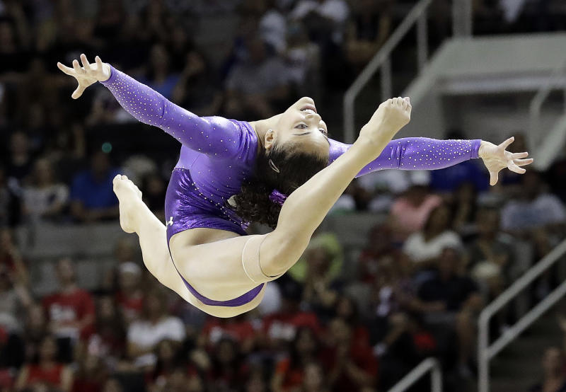 the u s gymnast on the verge of making history at the olympic trials