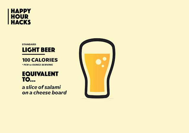 Swap a light beer for a slice of salami. (Image: Quinn Lemmers for Yahoo Beauty)
