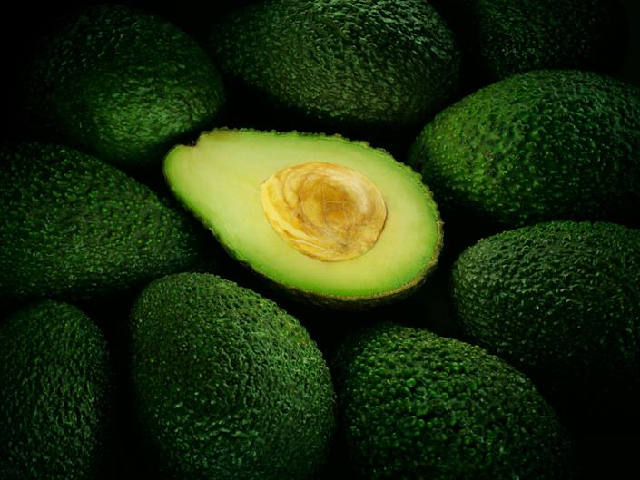 """Eat an avocado. The monounsaturated fats and potassium in the superfood can <a href=""""http://www.marieclaire.com/health-fitness/advice/reduce-stress-foods"""" rel=""""nofollow noopener"""" target=""""_blank"""" data-ylk=""""slk:lower blood pressure"""" class=""""link rapid-noclick-resp"""">lower blood pressure</a>."""