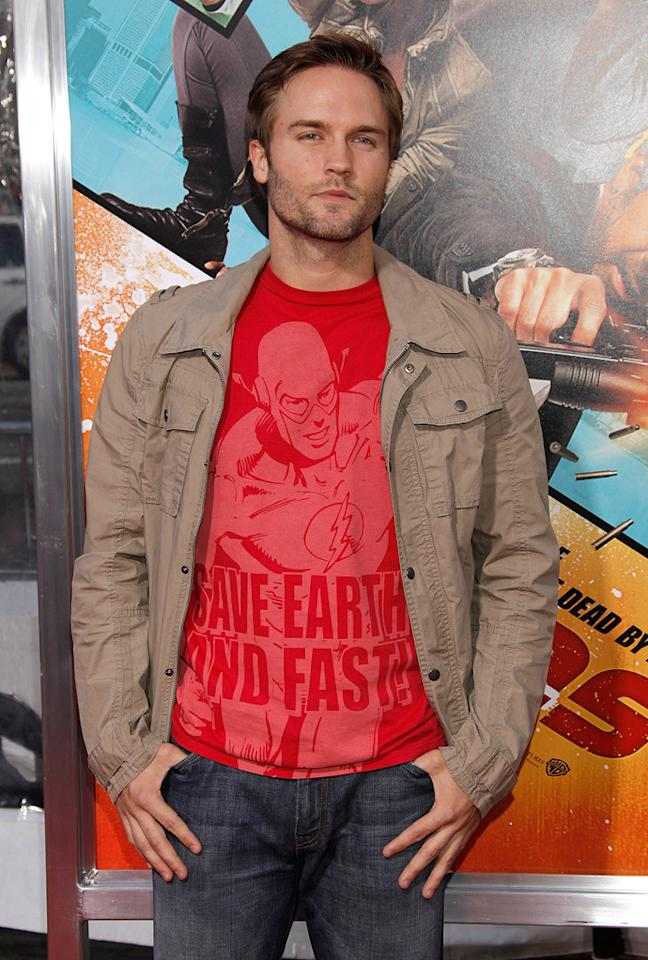 """<a href=""""http://movies.yahoo.com/movie/contributor/1809721668"""">Scott Porter</a> at the Los Angeles premiere of <a href=""""http://movies.yahoo.com/movie/1810096356/info"""">The Losers</a> - 04/20/2010"""
