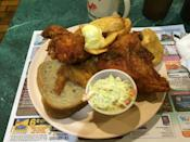 """<p><a href=""""https://www.tripadvisor.com/Restaurant_Review-g59707-d5035762-Reviews-Chet_and_Emils_Restaurant_and_Hotel-Birnamwood_Wisconsin.html"""" rel=""""nofollow noopener"""" target=""""_blank"""" data-ylk=""""slk:Chet & Emil's"""" class=""""link rapid-noclick-resp"""">Chet & Emil's</a>, Birnamwood</p><p>The best """"broasted"""" chicken I've ever had.<span class=""""redactor-invisible-space""""> - Foursquare user <a href=""""https://foursquare.com/cassiemke"""" rel=""""nofollow noopener"""" target=""""_blank"""" data-ylk=""""slk:Cassie Donahoe"""" class=""""link rapid-noclick-resp"""">Cassie Donahoe</a></span><br></p>"""