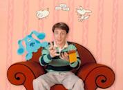 <ul> <li><strong>What to wear: </strong>Not much has changed about Steve from <strong>Blues Clues</strong> over the years - his outfit has stayed consistent! To embody Steve's classic style, wear a striped green collared shirt and khakis, and if you have a Blue dog you should bring it along too.</li> </ul>