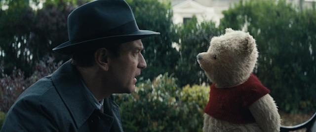 "Ewan McGregor plays Christopher Robin opposite his longtime friend Winnie the Pooh in Disney's live-action adventure ""Christopher Robin."" (Photo: Disney)"