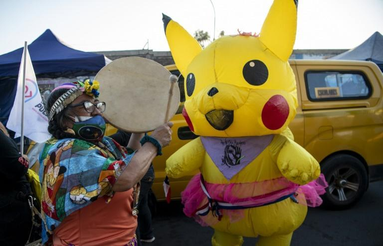 Among the elected independents are Giovanna Grandon, known as 'Aunt Pikachu' for dressing up as the Pokemon at anti-government protests
