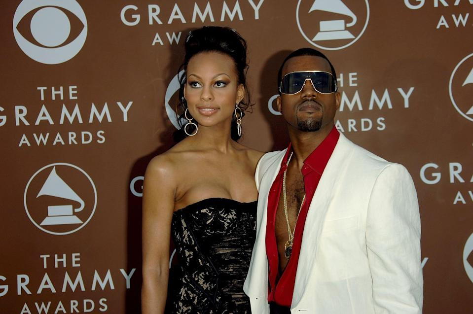 """<p>During his brief split from Alexis Phifer in 2004, Kanye struck up a romance with Brooke Crittendon. They met thanks to the aspiring actress's job as an executive assistant at MTV News. He was in the midst of working on his 2005 album <strong>Late Registration</strong>, and things fizzled quickly. She went on to star in BET's <strong>Harlem Nights</strong>, and chose to slam haters of her and Kanye's relationship <a href=""""http://ohnotheydidnt.livejournal.com/6433723.html"""" class=""""link rapid-noclick-resp"""" rel=""""nofollow noopener"""" target=""""_blank"""" data-ylk=""""slk:via MySpace"""">via MySpace</a>. It appears 'Ye did not approve of her <a class=""""link rapid-noclick-resp"""" href=""""https://www.popsugar.com/DIY"""" rel=""""nofollow noopener"""" target=""""_blank"""" data-ylk=""""slk:DIY"""">DIY</a> PR move, and subtly called her out on Pharrell's """"Number One"""": """"A-a-and you be givin' me my space, a-a-and you don't be runnin' on MySpace.""""</p>"""