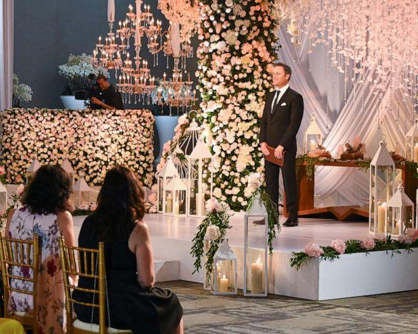 PHOTO: Chris Harrison is shown at the wedding of Krystal Nielson and Chris Randone on Bachelor In Paradise (John Fleenor/ABC)