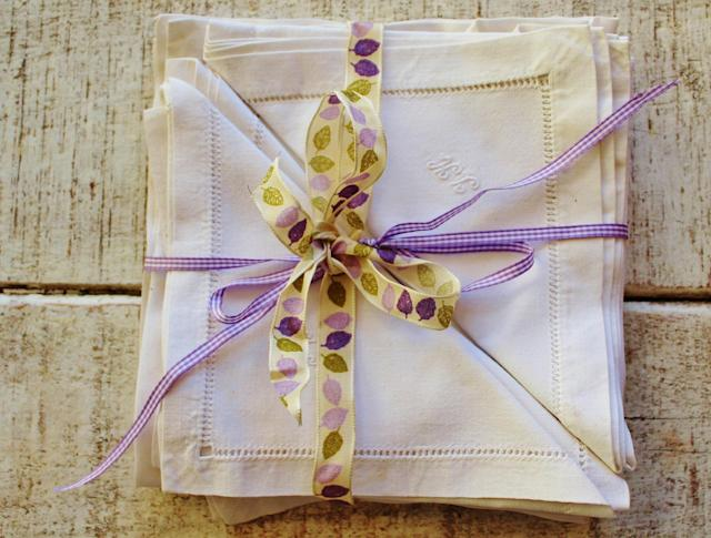 <p>Use cloth napkins instead of paper napkins for meals. </p>