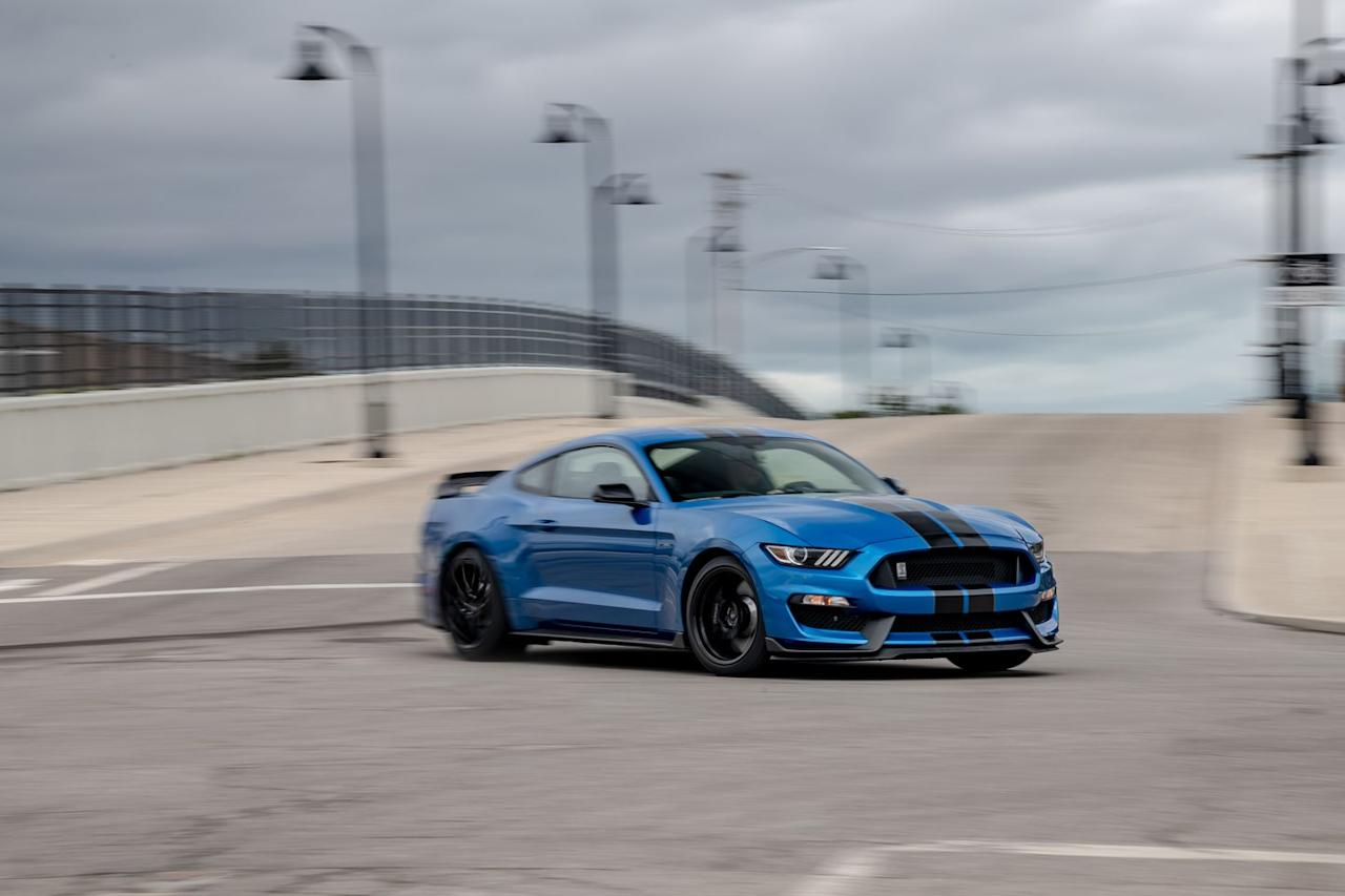 "<p>The 2019 GT350's Michelin Pilot Sport Cup 2 tires are the first to have the Ford Performance label ""FP"" embossed on the sidewall. This denotes the compound is formulated specifically for Ford.</p>"