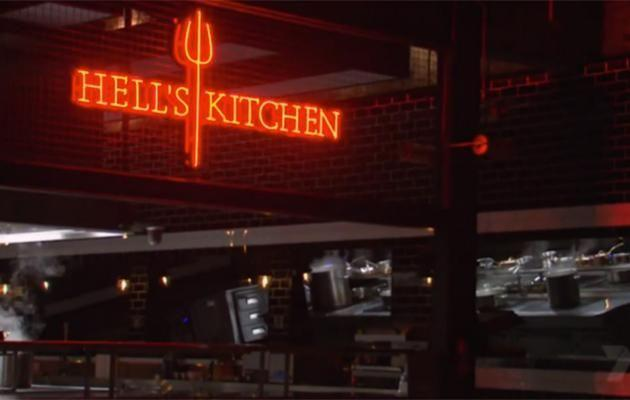 The pots are already steaming away in the empty Hell's Kitchen, presumably manned by the ghosts of celebrities from previous seasons.