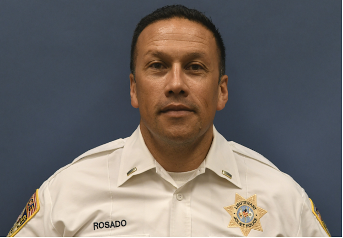 In March, Joe Rosado was promoted from lieutenant to deputy chief of operations. Image via city of Joliet FOIA