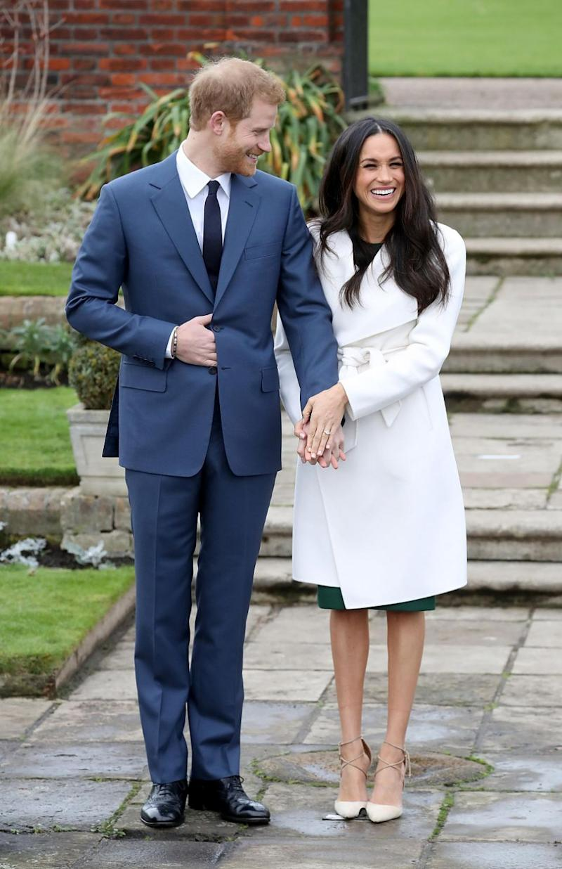 The pair did a photoshoot in the gardens of Kensington Palace. Photo: Getty Images