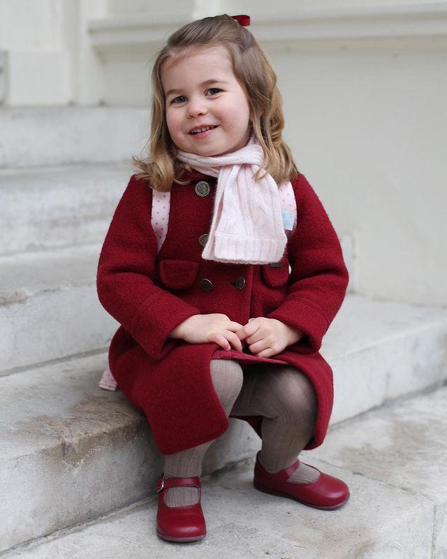 """<p><a href=""""https://www.cosmopolitan.com/uk/reports/a14782156/princess-charlotte-nursery-photo-royals/"""" rel=""""nofollow noopener"""" target=""""_blank"""" data-ylk=""""slk:Princess Charlotte's big day at nursery"""" class=""""link rapid-noclick-resp"""">Princess Charlotte's big day at nursery</a> came almost two years to the day after her big brother George's. The family had moved from Norfolk to London, to live in Kensington Palace, meaning William and Kate's only daughter was sent to Willcocks Nursery School. A then-two-year-old Charlotte was pictured wearing a little red coat and a pink scarf on her big day, and royal fans couldn't help but comment on how similar the Princess looked to her late grandmother, <a href=""""https://www.cosmopolitan.com/uk/reports/a15047871/princess-charlotte-princess-diana-resemblance/"""" rel=""""nofollow noopener"""" target=""""_blank"""" data-ylk=""""slk:Princess Diana"""" class=""""link rapid-noclick-resp"""">Princess Diana</a>.</p><p><a href=""""https://www.instagram.com/p/Bdscg5vg79w"""" rel=""""nofollow noopener"""" target=""""_blank"""" data-ylk=""""slk:See the original post on Instagram"""" class=""""link rapid-noclick-resp"""">See the original post on Instagram</a></p>"""