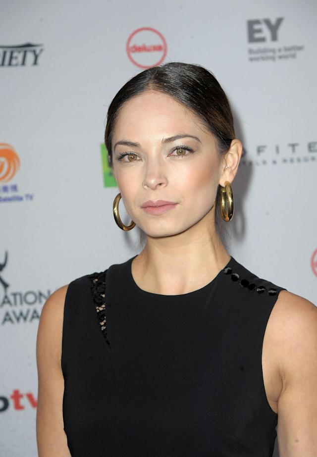 Kristin Kreuk attends the Emmy Awards on Nov. 20, 2017, in New York City. (Photo: FilmMagic)