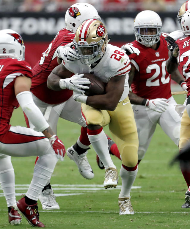 Carlos Hyde is on pace to rush for nearly 1,300 yards and another 350 receiving. (AP)