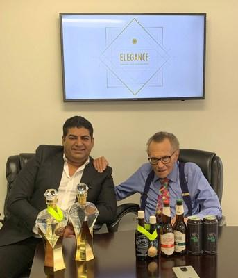 Elegance Brands Inc. Director and CEO, Raj Beri, in a meeting with Advisory Board Member, Larry King.