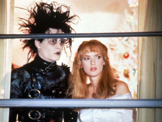 Johnny Depp and Winona Ryder at their gothic best in 'Edward Scissorhands' (Moviestore/Rex)
