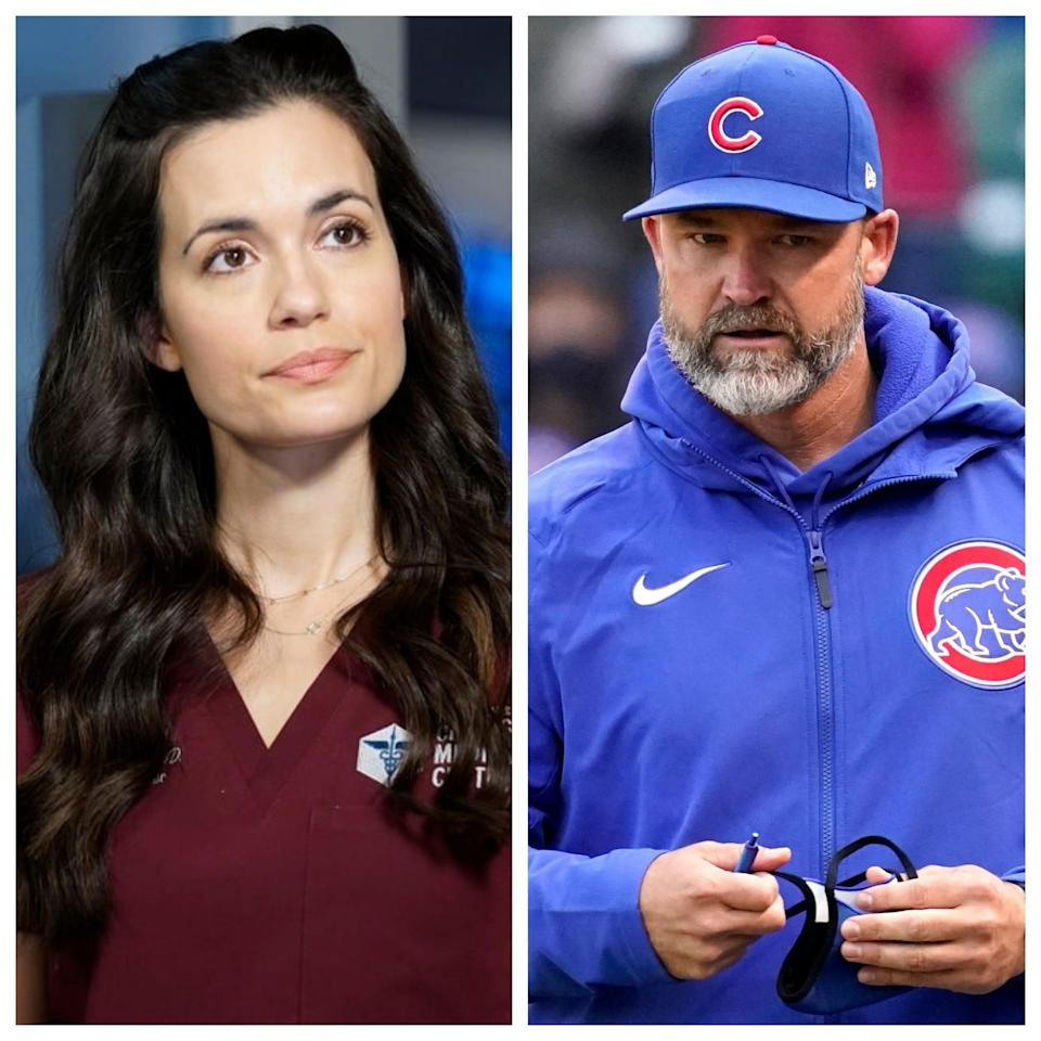 """""""Chicago Med"""" star Torrey DeVitto, as Dr. Natalie Manning, is dating real-life Chicago Cubs manager David Ross."""