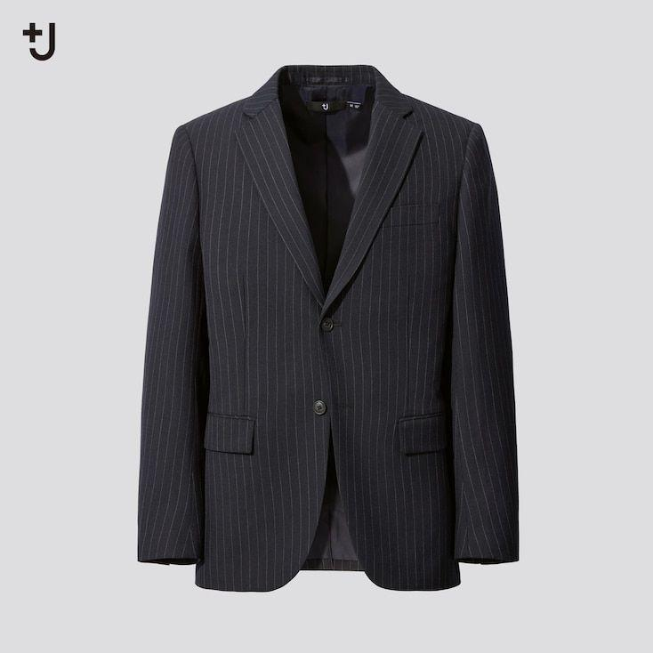 """<p><strong>Uniqlo</strong></p><p>uniqlo.com</p><p><strong>$179.90</strong></p><p><a href=""""https://go.redirectingat.com?id=74968X1596630&url=https%3A%2F%2Fwww.uniqlo.com%2Fus%2Fen%2Fmen-plusj-wool-blend-tailored-jacket-432644.html&sref=https%3A%2F%2Fwww.esquire.com%2Fstyle%2Fmens-fashion%2Fg34654836%2Funiqlo-j-jil-sander-collaboration-2020%2F"""" rel=""""nofollow noopener"""" target=""""_blank"""" data-ylk=""""slk:Buy"""" class=""""link rapid-noclick-resp"""">Buy</a></p><p>Traditional banker stripes never looked so, well, <em>transgressive</em>. </p>"""
