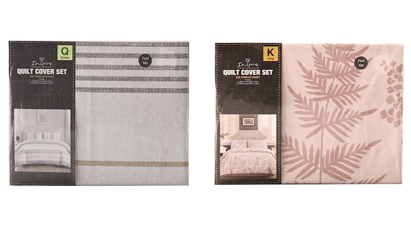 Woolworths Single, Double, Queen and King Quilt Sets