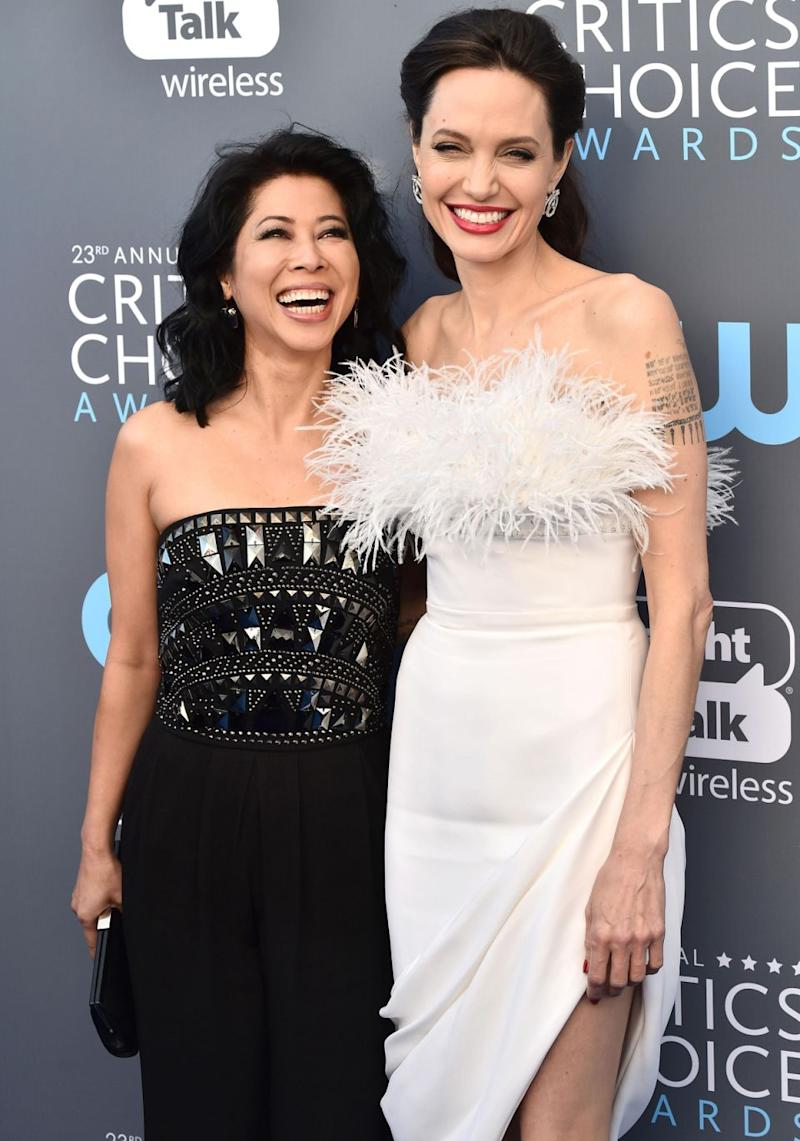 Brad Pitt's ex decided to bring a special date along for the event, activist Loung Ung. Source: Getty