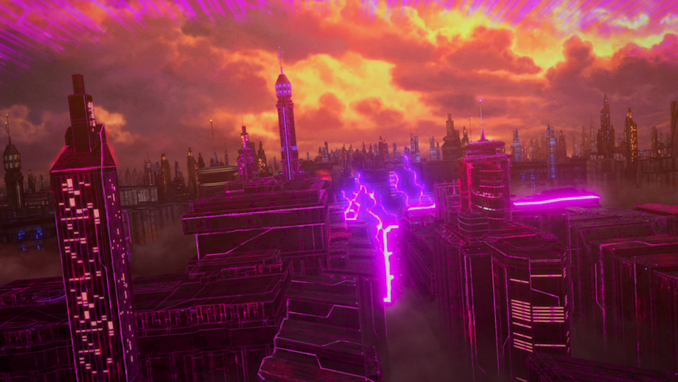 The blasted ruins of Cybertron in Transformers : War for Cybertron Trilogy. (PHOTO: Netflix)