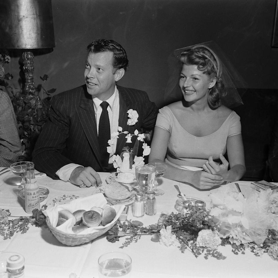 <p>Fourth time's the charm? After divorcing Prince Aly Khan, Rita Hayworth wed fellow actor Dick Haymes at the Sands Hotel in Las Vegas. Their union lasted two years and they divorced in 1955. </p>