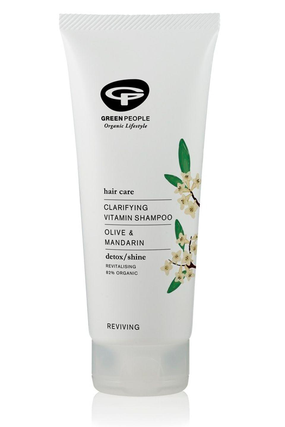 """<p><a class=""""link rapid-noclick-resp"""" href=""""https://go.redirectingat.com?id=127X1599956&url=https%3A%2F%2Fwww.greenpeople.co.uk%2Fclarifying-vitamin-shampoo-200ml&sref=http%3A%2F%2Fwww.cosmopolitan.com%2Fuk%2Fbeauty-hair%2Fhair%2Fg13914882%2Fclarifying-shampoo%2F"""" rel=""""nofollow noopener"""" target=""""_blank"""" data-ylk=""""slk:BUY NOW"""">BUY NOW</a> £13</p><p>If you want a clarifying shampoo without all the 'nasties' (yes, I hate that word too), look to Green People. </p><p>The all-natural beauty brand formulated this clarifying shampoo to remove product build up from the hair and leave it clean and refreshed. The best bit? It's 'made without SLS/SLES, alcohol (ethyl alcohol, ethanol), parabens, phthalates and artificial fragrances'.<br></p>"""