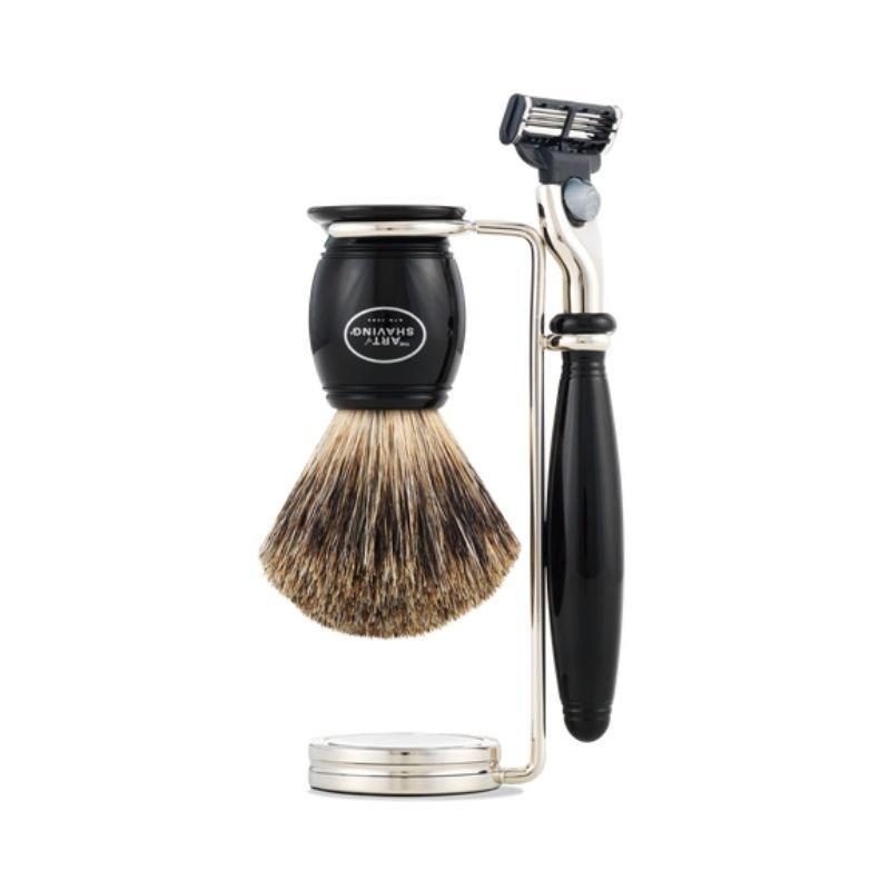 "<p>It may be a little pricey, but this Art of Shaving Mach 3 Compact Shaving Set is totally worth making Dad feel fancy. The acrylic razor and brush handle are available in black or faux ivory and the razor can be used with <a href=""https://www.amazon.com/Gillette-Refills-Razors-Blades-Packaging/dp/B0039LMTHE"" rel=""nofollow noopener"" target=""_blank"" data-ylk=""slk:Gillette Mach 3 blades"" class=""link rapid-noclick-resp"">Gillette Mach 3 blades</a>. It might end up being one of his favorite Father's Day gifts ever.</p> <p><strong>$215</strong> (<a href=""https://shop-links.co/1708737515269685545"" rel=""nofollow noopener"" target=""_blank"" data-ylk=""slk:Shop Now"" class=""link rapid-noclick-resp"">Shop Now</a>)</p>"