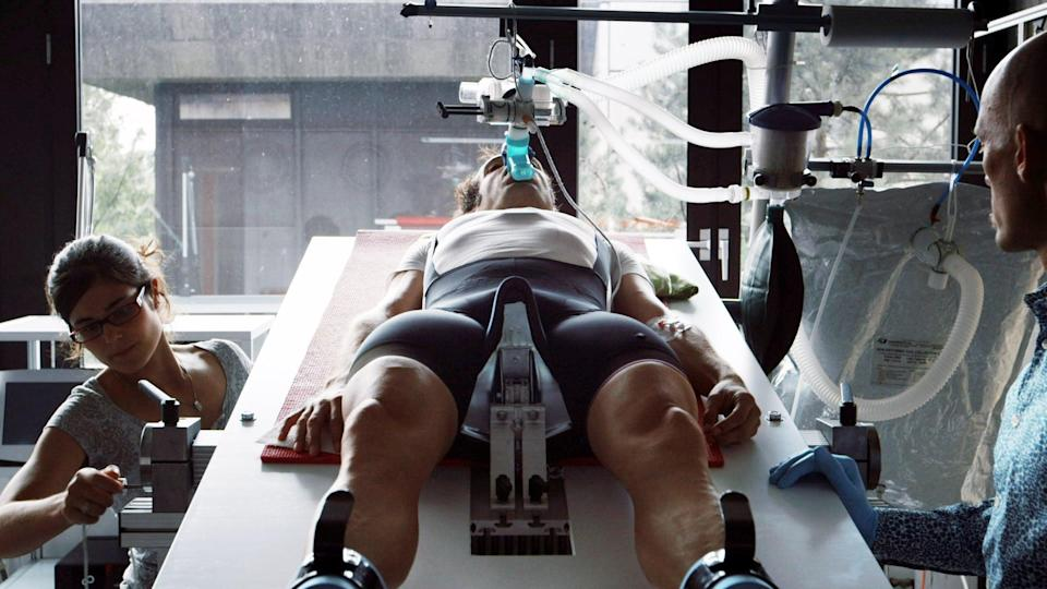 """<p>Though Bryan Fogel first sought to explore the world of performance-enhancing drugs in cycling, the filmmaker instead happened upon a major international doping scandal when he encountered the head of the Russian antidoping laboratory. In the film, Fogel documents the means by which this lab allows athletes to take performance-enhancing drugs in a way that will evade detection from drug testing, leading to the discovery of a state-sponsored Olympic doping program.</p> <p>Watch <a href=""""http://www.netflix.com/title/80168079"""" class=""""link rapid-noclick-resp"""" rel=""""nofollow noopener"""" target=""""_blank"""" data-ylk=""""slk:Icarus""""><strong>Icarus</strong></a> on Netflix now.</p>"""