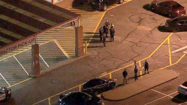 PHOTO: WABC chopper footage showed a scene of police activity at a Home Depot in Passaic, New Jersey, where Saipov is believed to have rented the truck used in the attack. (WABC)