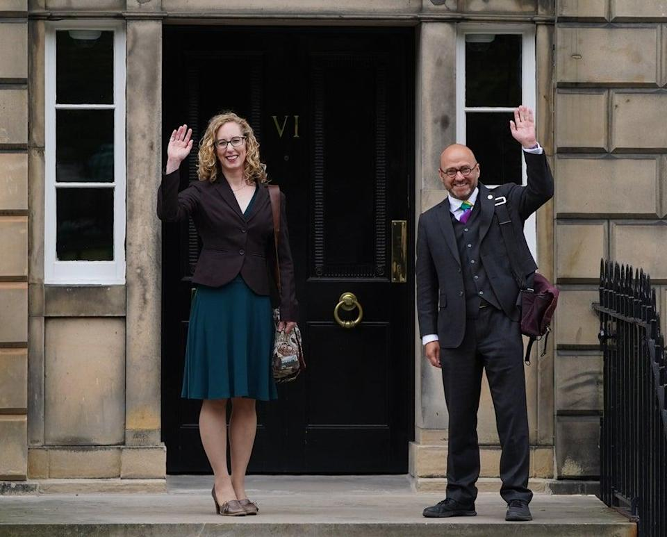 Greens co-leaders Lorna Slater and Patrick Harvie could serve as ministers under the deal (Andrew Milligan/PA) (PA Wire)