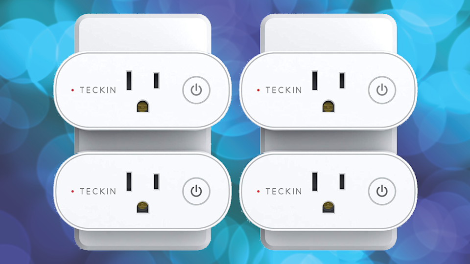 Show your appliances who's boss with a four pack of Teckin Wi-Fi Smart Plugs. (Photo: Amazon)