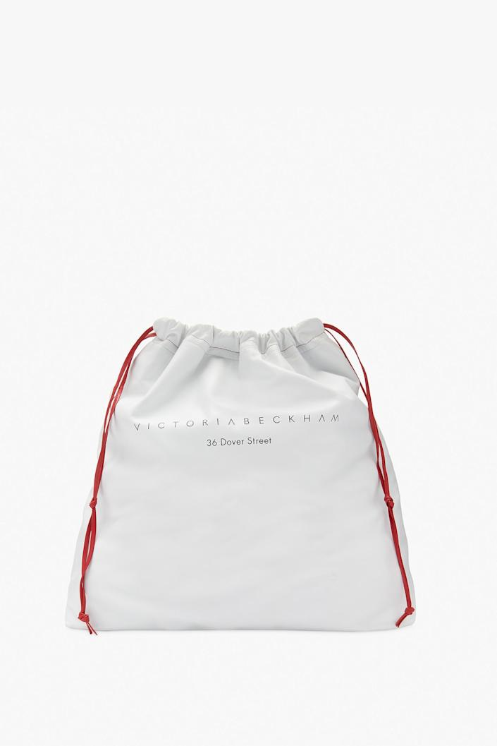 The 36 Dover St Drawstring Bag costs £795. [Photo: Victoria Beckham]