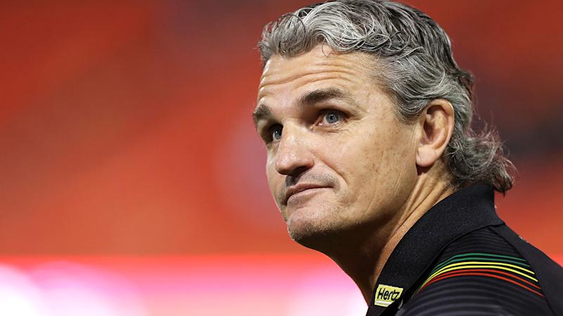 Seen here, Panthers coach Ivan Cleary looks on during a match.