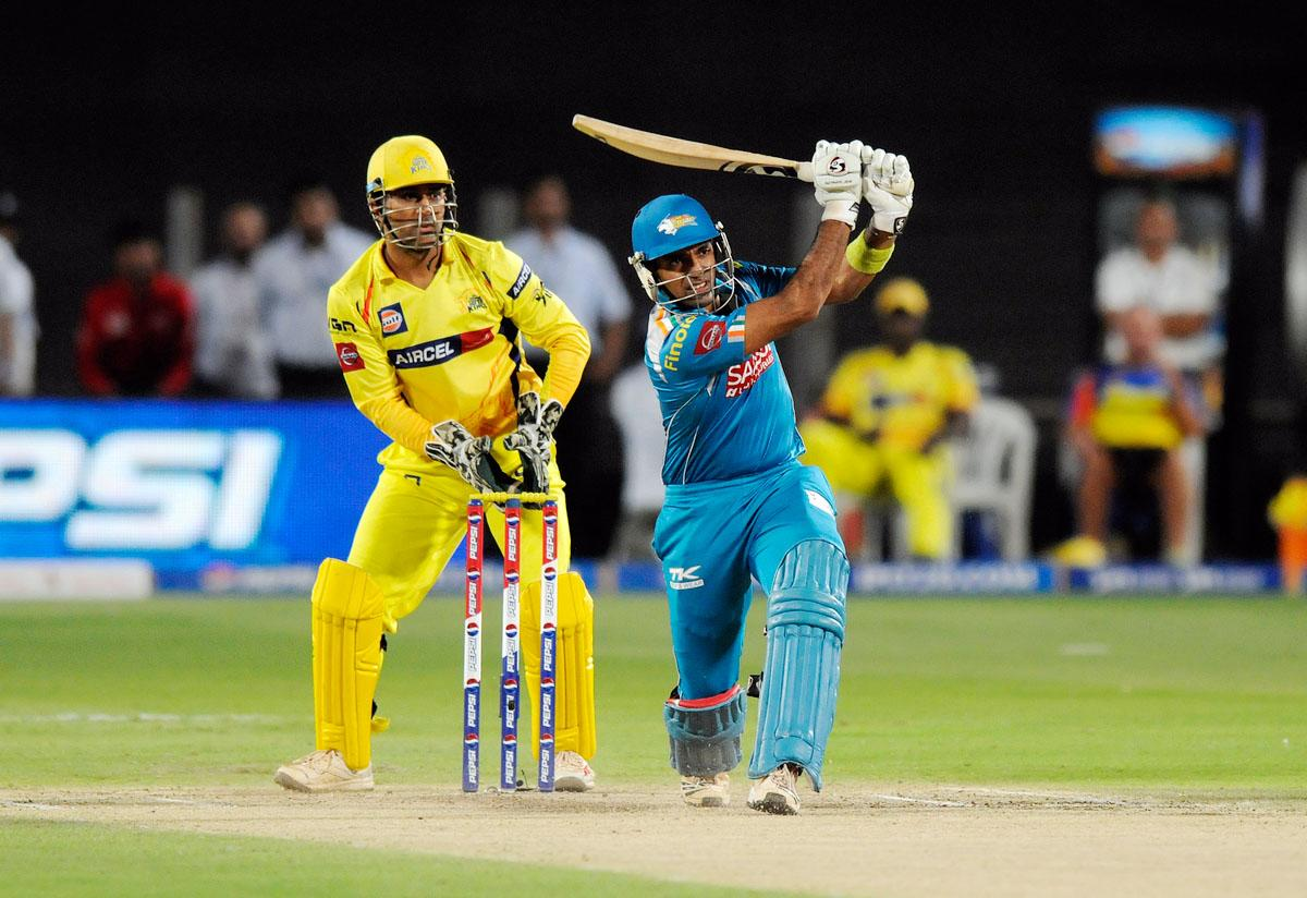 Robin Uthappa of Pune Warriors bats during match 42 of the Pepsi Indian Premier League ( IPL) 2013  between The Pune Warriors India and the Chennai Superkings held at the Subrata Roy Sahara Stadium, Pune on the 30th April  2013. (BCCI)