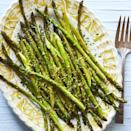 """<p>Quick-cooking asparagus takes less than 10 minutes to roast in the oven. This version is the perfect citrusy side dish for weeknight dinners. </p><p><a href=""""https://www.thepioneerwoman.com/food-cooking/recipes/a35701355/lemon-roasted-asparagus-recipe/"""" rel=""""nofollow noopener"""" target=""""_blank"""" data-ylk=""""slk:Get Ree's recipe."""" class=""""link rapid-noclick-resp""""><strong>Get Ree's recipe.</strong></a></p>"""