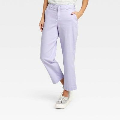 <p>The perfect spring-themed bottoms? These lavender <span>A New Day High-Rise Straight Leg Ankle Pants</span> ($20).</p>