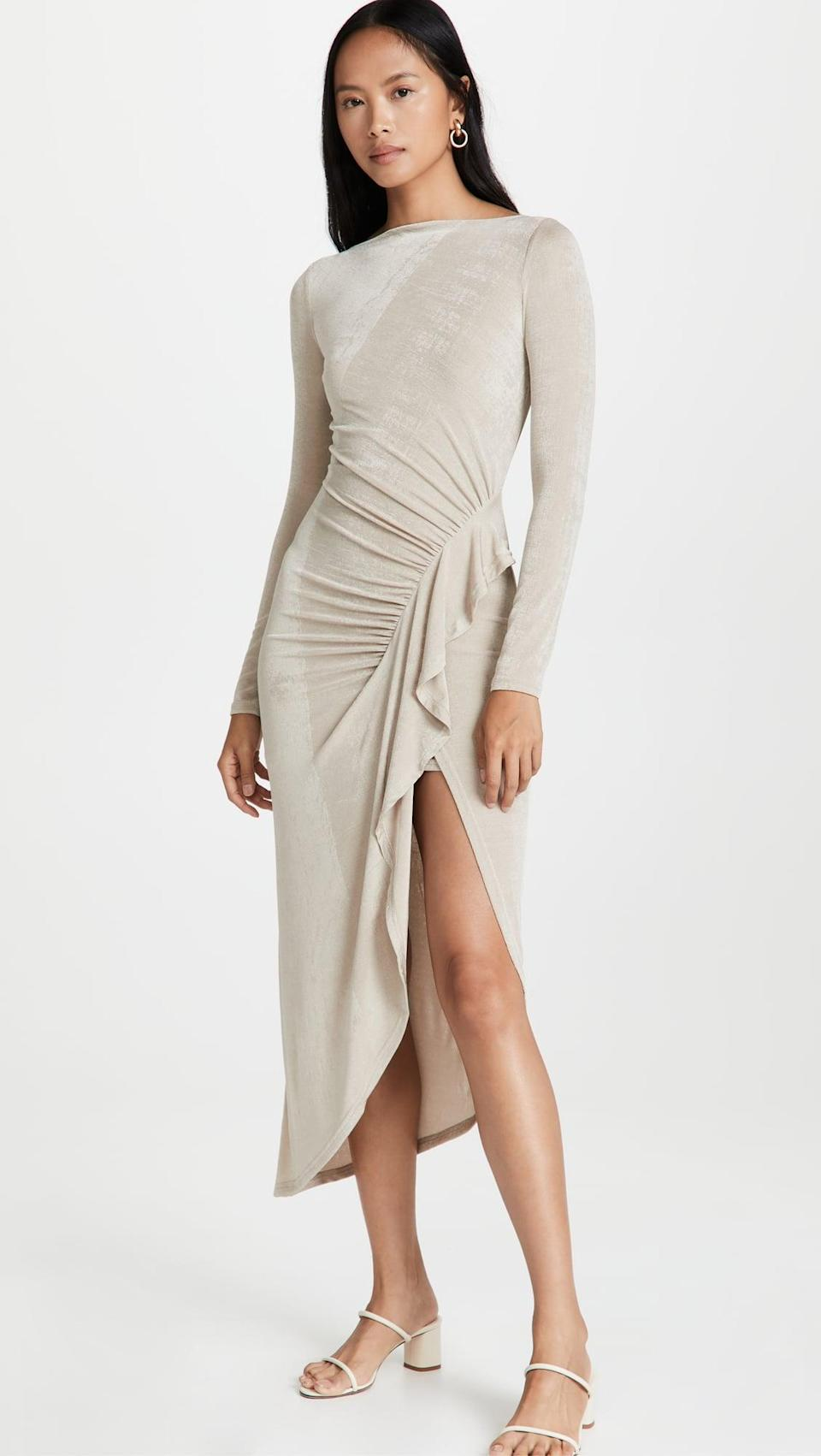 <p>While the <span>Significant Other Vanessa Dress</span> ($228) has a uniquely eye-catching design, the shade makes it a great pairing for any shoes. You can easily dress it up with heels for a night out.</p>
