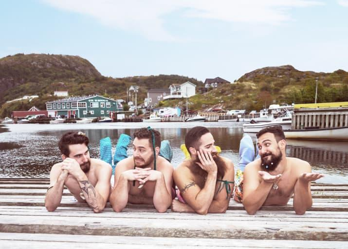 <p>The Newfoundland friends are making a splash with their calendar. (Photo: Instagram) </p>