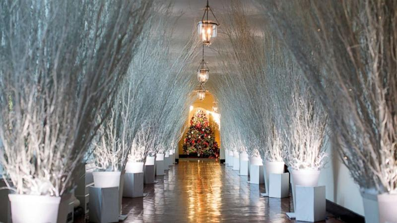 The infamous sparse 2017 White House Christmas decorations