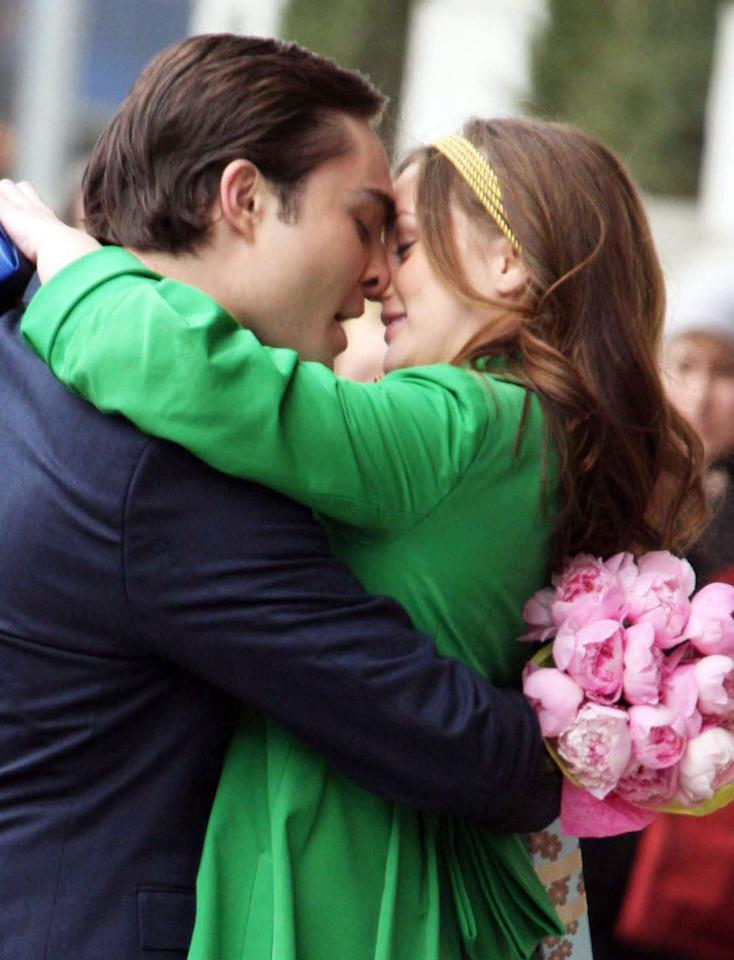 "<b>MOST ROMANTIC MOMENT:<br>Chuck finally tells Blair he loves her</b> (Season 2, Episode 25)<br><br>After two seasons of back and forth, everything came to a head at the high school graduation. Blair knew Chuck loved her, but she needed to hear him say it. He couldn't and jetted to Europe, leaving her heartbroken. But a week later, Chuck returned and admitted that he was a coward, and then finally said ""I love you."" When she asked to hear it again, he kept repeating it, over and over."
